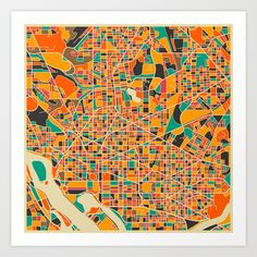 Washington, DC Art Print by Jazzberry Blue - $19.00