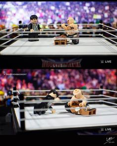 "WrestleLegoMania  Falls Count Anywhere/The Rock vs Booker T - Part 6 of 7  [The King] ""Here it comes here it comes.."" [Jim Ross] ""The most electrifying move is sports entertainment the People's elbow!!"" [The King] ""Ahhhh! Oh no!"" [Jim Ross] ""The Rock goes for the cover... One two three!!""  #lego #legophotography #legostagram #lego_hub #toyphotography #toyartistry #toyslagram_lego #justanothertoygroup #toyoutsiders #brickcentral #toptoyphotos #toplegophoto #epictoyart #toygroup_alliance…"