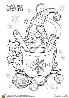 Coloriage les tomtes lutins suedois chocolat sur Hugolescargot.com - Hugolescargot.com