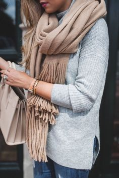 Tan and Grey Knits