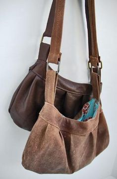 DIY leather buttercup bag - I have this pattern and it can be done in leather - good to know by carlani