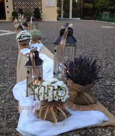 στολισμος γαμου με λινατσα - Αναζήτηση Google Weding Decoration, Flower Decorations, Greece Wedding, Italy Wedding, Levander Wedding, Tableau Marriage, Event Room, Provence Wedding, Wedding Crafts