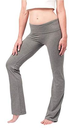 d4f6683322078 Hard Tail Foldover Bootcut Yoga Pants - Charcoal Heather Review Yoga  Equipment, Yoga Fitness,