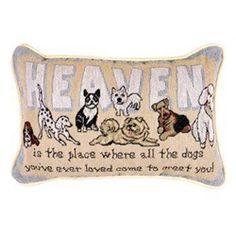 Heaven Dogs Decorative Throw Pillows