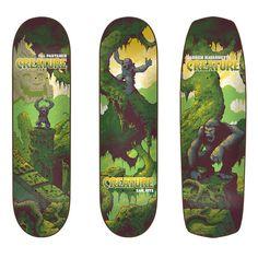 Creature skateboards decks by Arik Roper