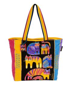Another great find on #zulily! Yellow Fantastic Feline Totem Tote by Laurel Burch #zulilyfinds