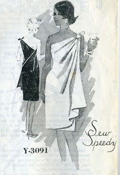 Vintage 1960s Spadea Y-3091 Misses Mail Order by RomasMaison