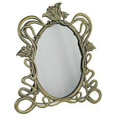 mirror recalls original Art Nouveau designs with its organic form and use of swirling tendrils Jugendstil Design, Standing Mirror, Steampunk Design, Art Nouveau Design, Estilo Retro, Art Nouveau Jewelry, Art Moderne, Through The Looking Glass, Art And Architecture