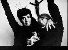 Leonard Cohen et Marianne Ihlen par John Max.<br />