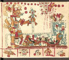 Codex Vaticanus B - Xochipilli & Cipactli