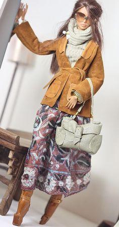 dollsalive fashion royalty,FR2 Secrets outfit,leather shoes,bag