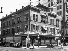 Tampa Florida Walgreens Drugstore at Franklin & Polk St 1934