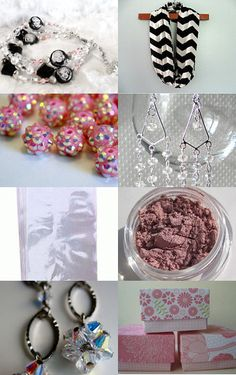 Beautiful pink and black from some great shops on Etsy