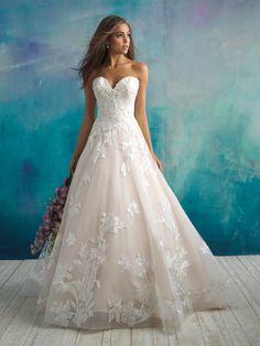 Trendy Ball Gown Wedding Dress on Kleinfeld Bridal Bridal Wedding Dresses, Wedding Dress Styles, Dream Wedding Dresses, Designer Wedding Dresses, Bridesmaid Dresses, Floral Wedding, Bridal Style, Allure Wedding Gowns, Bridal Gown Styles