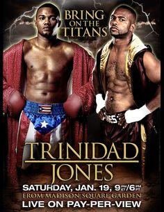Boxing: Tito Trinidad vs Roy Jones Jr. Poster