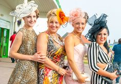 Ladies Night at Great Yarmouth Racecourse 2013 with fabulous formal hats. [Photography by Kayleigh Poacher]