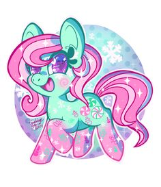 Winter Minty by ColorgasmFreak on DeviantArt My Little Pony Minty, Care Bear Costumes, Snow Pony, Mlp Memes, Pokemon, How To Make Snow, My Little Pony Friendship, Kawaii Cute, Holiday Crafts