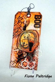BOO! A Halloween tag by Fiona Paltridge 2014