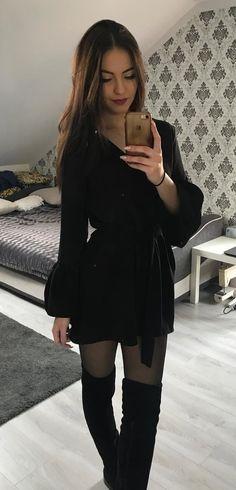 #women's black #coat