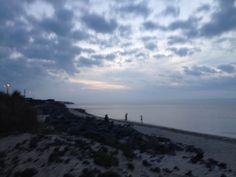 Maine walk on beach