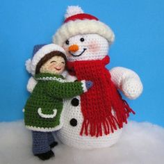 LITTLE GIRL and SNOWMAN Pdf Crochet Patterns