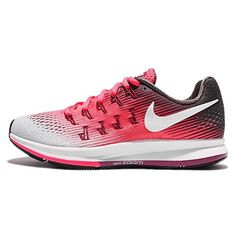 NIKE Women's Wmns Air Zoom Pegasus 33, Racer Pink/White-Midnight Fog, 6 US