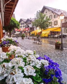 """Rainy day in Gstaad ☔️ #Switzerland_Vacations"""""""
