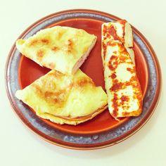 crepioca 2: 1 ovo + 2 col de goma de tapioca + 1 col de água.