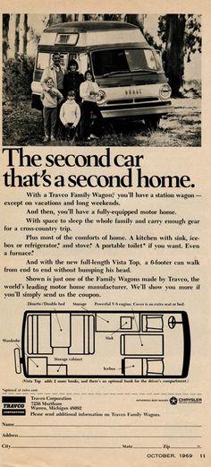 retro camping ads images | More vintage Dodge van camper ads...
