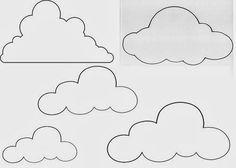 Image result for moldes desenho papel estrelas, nuvens lua