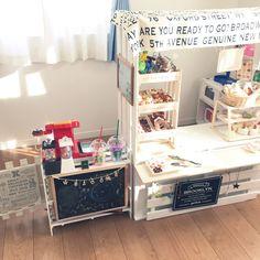 こどもと暮らす。/カラーボックスリメイク/カラーボックス/アンパンマンのおもちゃ/ままごとカフェ…などのインテリア実例 - 2016-05-18 16:26:33 | RoomClip(ルームクリップ)