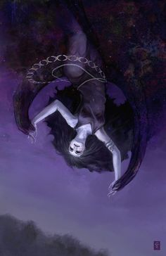 Nyx (Greek): Goddess of night. The daughter of Chaos. Sister to Gaia & Erebus (was wife to) whom she became the mother of Aether and Hemera. Later on her own gave birth to Moros, the Keres, Thanatos, Hypnos, Momus, Oizys, the Hesperides, Moerae, Nemesis, and similar beings. She stood at or near the beginning of creation. She is found in the shadows of the world & seen in glimpses. Her realm was in the far West beyond the land of Atlas.