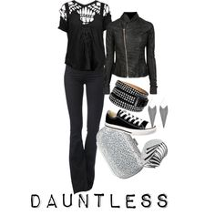 Because I love the Divergent series so much, here is a Dauntless inspired outfit.