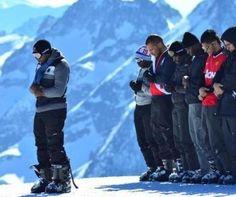 Prayers in the snow