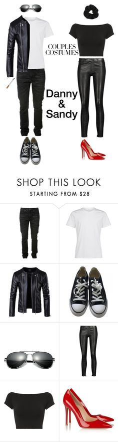 """Danny and Sandy"" by miriamk2020 ❤ liked on Polyvore featuring Yves Saint Laurent, La Perla, Converse, J Brand, Helmut Lang, Gianvito Rossi and Miss Selfridge"