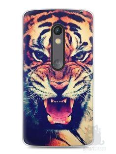 Capa Capinha Moto X Play Tigre Feroz - SmartCases - Acessórios para celulares e tablets :)