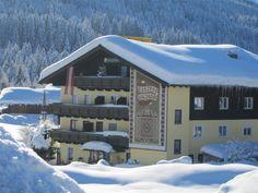 Aussanansicht Gasthof Waldwirt in Rußbach Hallstatt, Austria, Cabin, House Styles, Winter, Outdoor, Home Decor, Environment, Outdoors
