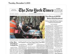 "Eyes-on with the NY Times' ""Today's Paper"" web app (Image Source: Today's Paper)"