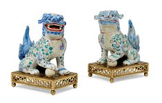 A Pair of Kakiemon Models of Karashishi [Lion Dogs] Christie's Japanese Art at the English Court