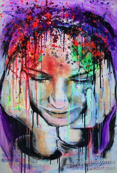 yuliya vladkovska  painting, acrylc on canvas 150x100cm  www.facebook.com/... www.saatchionline...