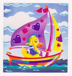 "RARE 2"" Lisa Frank New Sailor Duck Sticker Mod 