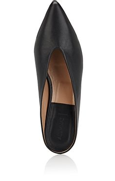 The News Pointed-Toe Leather Mules - Loafers & Oxfords - 504985256