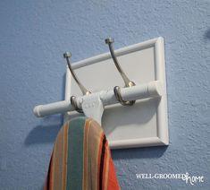 Laundry Room Organization - Well-Groomed Home - ironing board holder Laundry Closet, Laundry Room Organization, Laundry Room Design, Laundry In Bathroom, Organization Hacks, Laundry Storage, Small Laundry, Laundry Shop, Bathroom Tubs