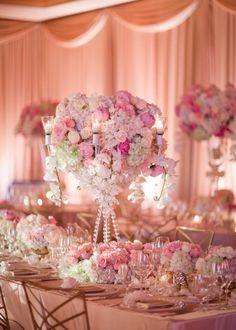 Pretty In Pink Wedding Reception Decor Wedding Reception Decorations, Wedding Centerpieces, Wedding Table, Perfect Wedding, Dream Wedding, Wedding Day, Pretty In Pink, Pretty Flowers, Wedding Designs