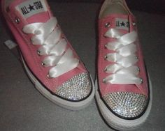 e5d41b1530b067 48 Best All Star Custom Converse Bling Toes   Ribbon Laces images in ...