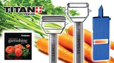 Titan Peeler Slicer Set Shaver Grater Mandolin Food Processor Fruit & Vegetables