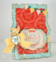 """Wishes"" Card by Authentique Paper design team member Eva Dobilas"