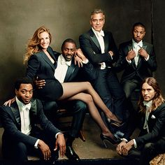 Julia Roberts, Idris Elba, George Clooney, Michael B. Jordan, Jared Leto, Chiwetel Ejiofor - Vanity Fair Hollywood Issue 2014