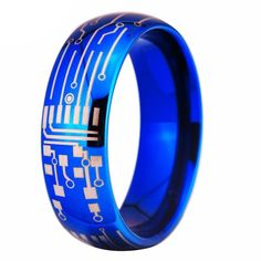 Christmas Gifts For Women -Circuit Board Design Men's Promise Rings