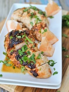 Fall is the season for citrus…and turkey! This Grapefruit Glazed Turkey Tenderloin recipe is delicious and beautiful. It is juicy with just the right amount of sweet and sour flavor from the grapefruit. Try the marinade with pork tenderloin too for another great option.